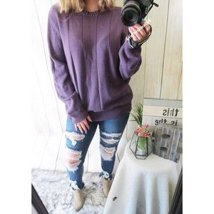 Vintage cozy oversized knitted sweater ☕️